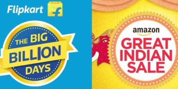 12th Oct - 17th Oct Amazon Great Indian Festival and Flipkart Big Diwali Sale full Offer List