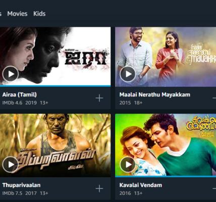 Amazon prime Tamil movies