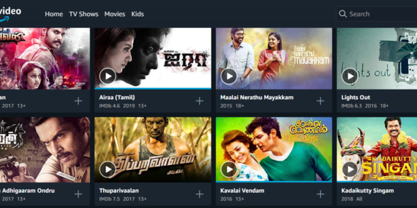 Amazon prime Tamil movies